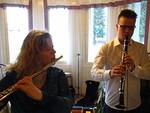Evelyn soitti huilua ja Pekka Väätäinen klarinettia